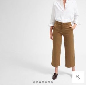 Everlane wide leg crop ochre 6